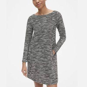GAP Boucle Longe Sleeve Dress Zip Pockets A Line M